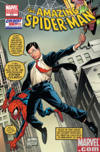 Spiderman Meets Stephen Colbert