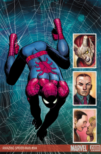 Cover for issue 584 of Amazing Spider-Man