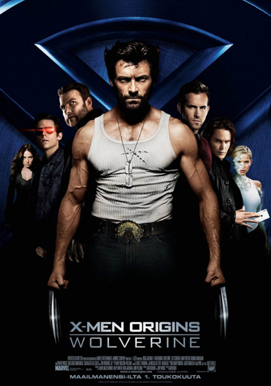X Men Origins Wolverine starring Hugh Jackman