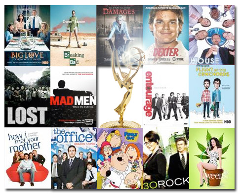 emmy nominations 2009, house, lost, mad men, the office, family guy, 30 rock