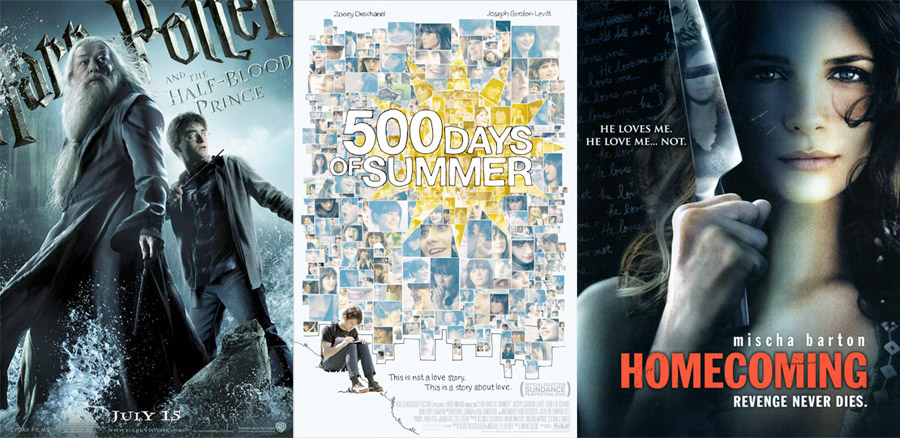 New Releases 7 17 09, Harry Potter 6, 500 Days of Summer, Homecoming