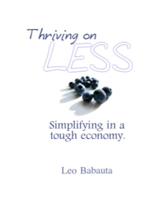 Thriving on Less: Simplifying in a Tough Economy