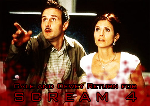 Scream 4, David Arquette and Courtney Cox Return
