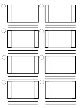 Storyboard Template Full Frame