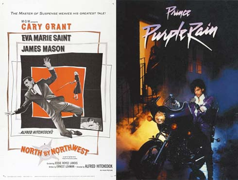 North by Northwest and Purple Rain Posters