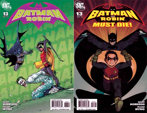 Batman and Robin issue 13 covers