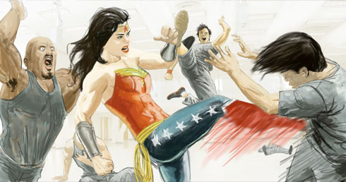 Wonder Woman Storyboards